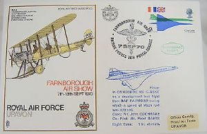 RAF Flown Cover 1st Series SC1 - Concorde G-BSST Test Flight 07/09/70 - Farnboro